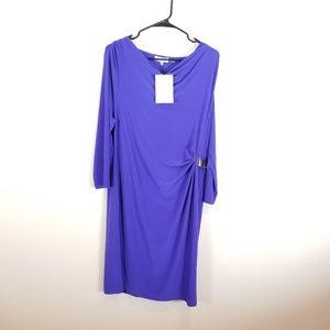 Calvin Klein Purple/Blue Dress. Size Large